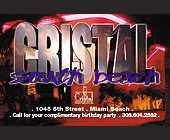 Salsa Contest at Cristal South Beach - tagged with 305.604.2582
