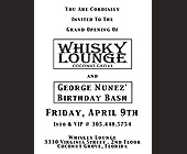 Whisky Lounge Grand Opening - created March 15, 1999