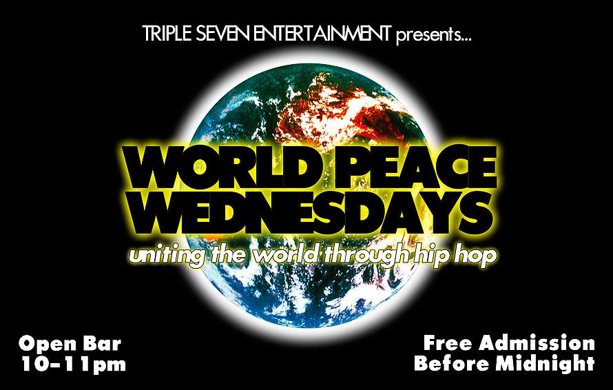 World Peace Wednesdays at Cream