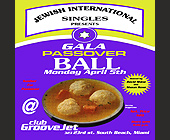 Gala Passover Ball at Groove Jet - Religious Graphic Designs