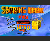 Spring Break PWO Nitro at The Chili Pepper - 2261x1397 graphic design