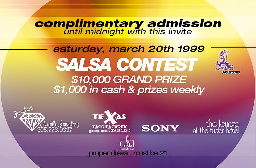 Salsa Contest at Club Cristal