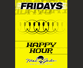 Happy Hour Fridays at Mad Jacks - tagged with happy face