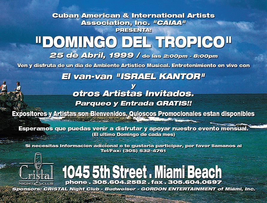The Tropical Sunday at Cristal Nightclub