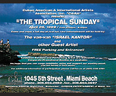 The Tropical Sunday at Cristal Nightclub - Miami Flyers Graphic Designs