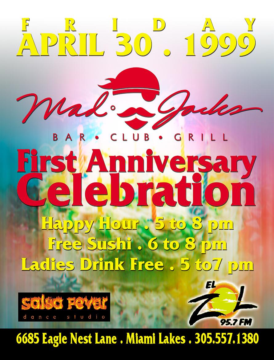 First Anniversary Celebration of Mad Jacks Miami