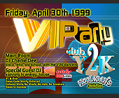 VIP Party at Club Y2K - tagged with vip reservations