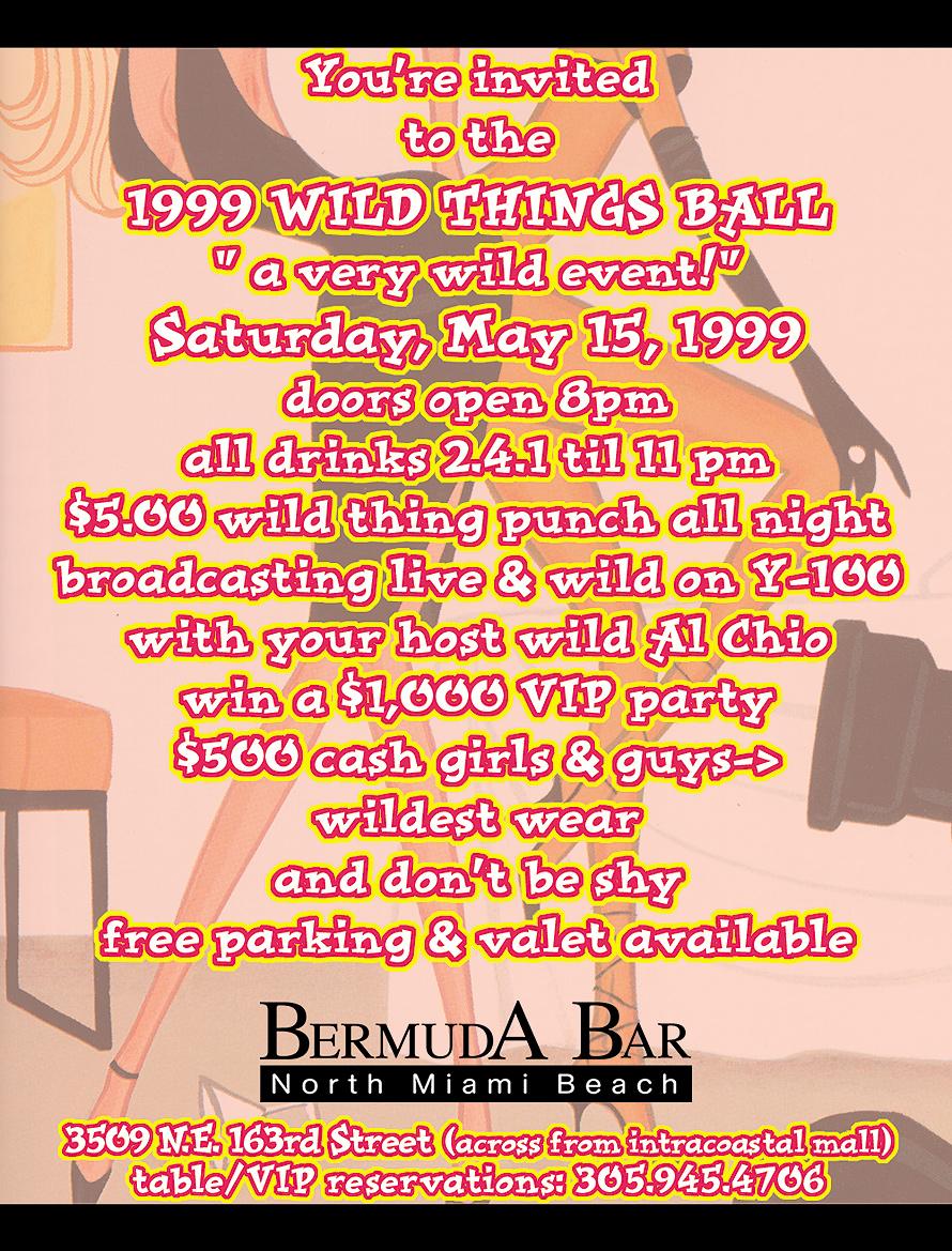 Wild Things Ball at Bermuda Bar