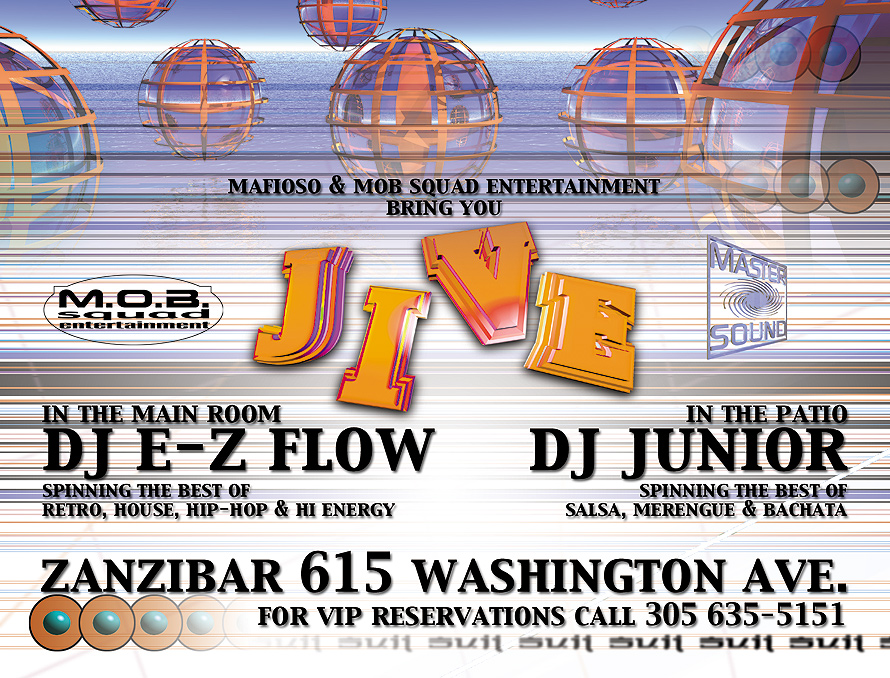 Jive at Zanzibar in Miami Beach
