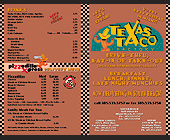 Texas Taco Factory Menu - 2125x2750 graphic design