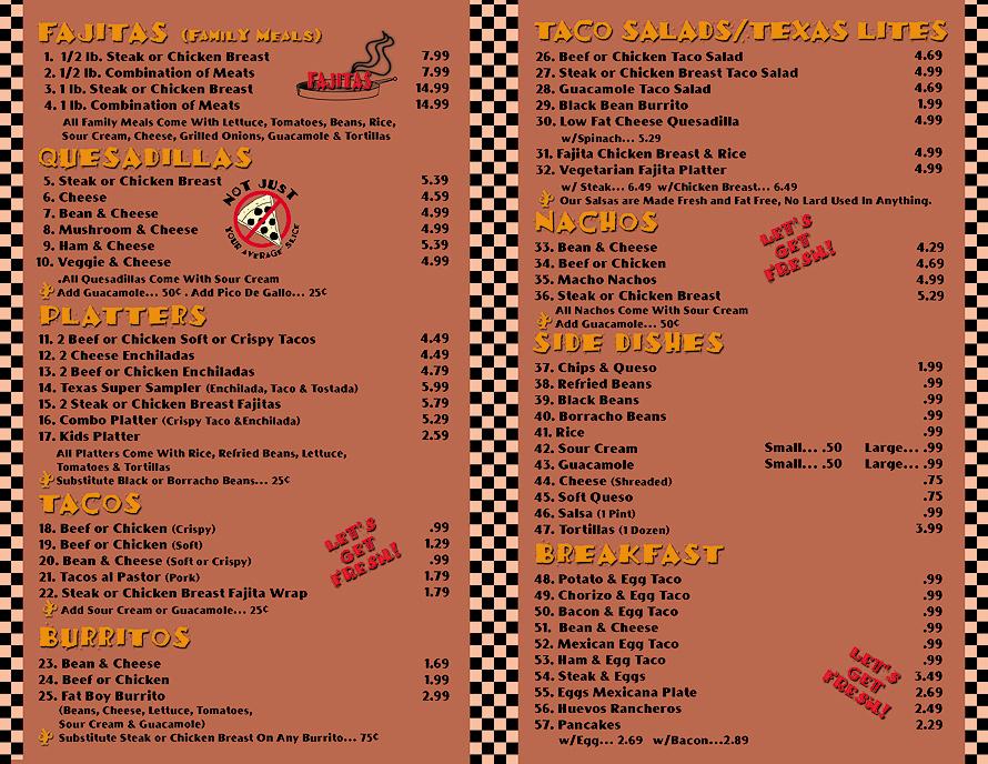 Texas Taco Factory Brochure