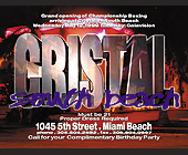Club Cristal in South Beach - tagged with celebration