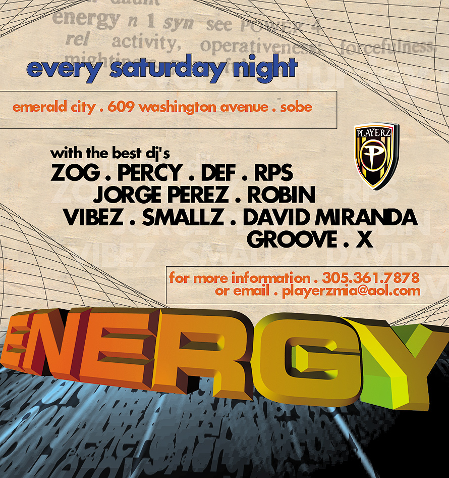 Energy Every Saturday Night at Emerald City