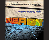 Energy Every Saturday Night at Emerald City - 1200x1275 graphic design