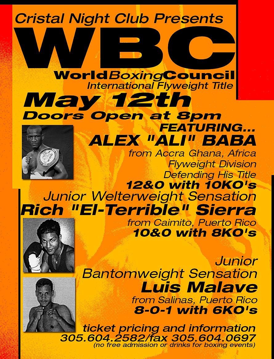 World Boxing Council International at Cristal Nightclub