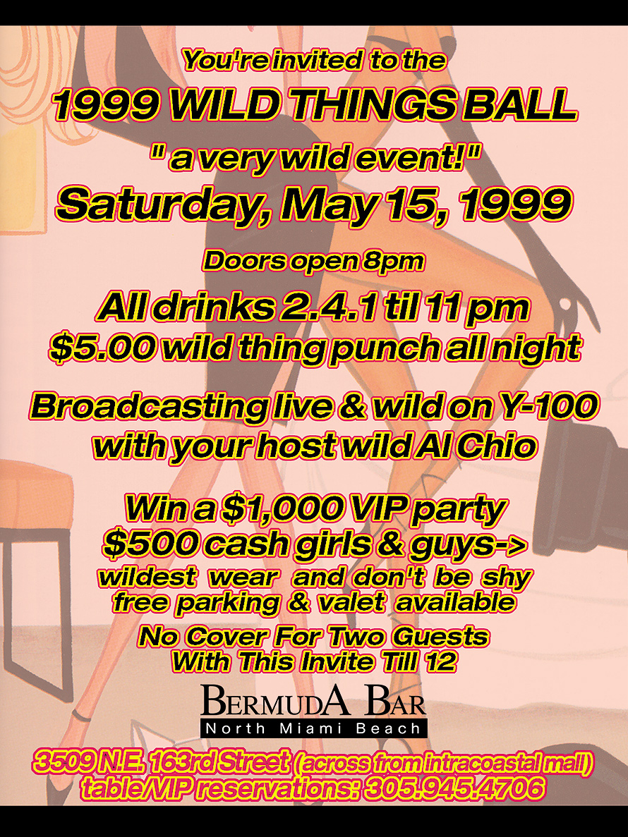 Wild Things Ball at Bermuda Bar