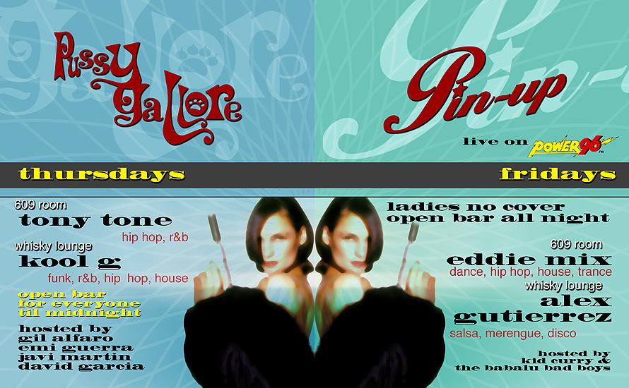 Pussy Gallore Pin-up at Club 609