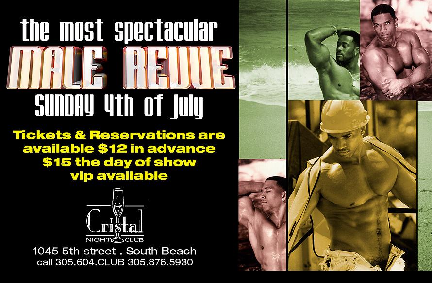Male Revue at Cristal Nightclub