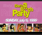 She's a Bitch Party at Cristal Nightclub - created June 1999