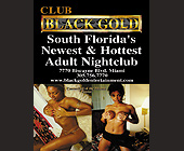 Black Gold Adult Club Centerfold Vanna - Black Gold Adult Club Graphic Designs