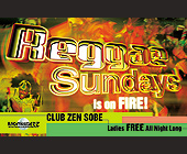 Reggae Sundays at Club Zen - Flyer Printing