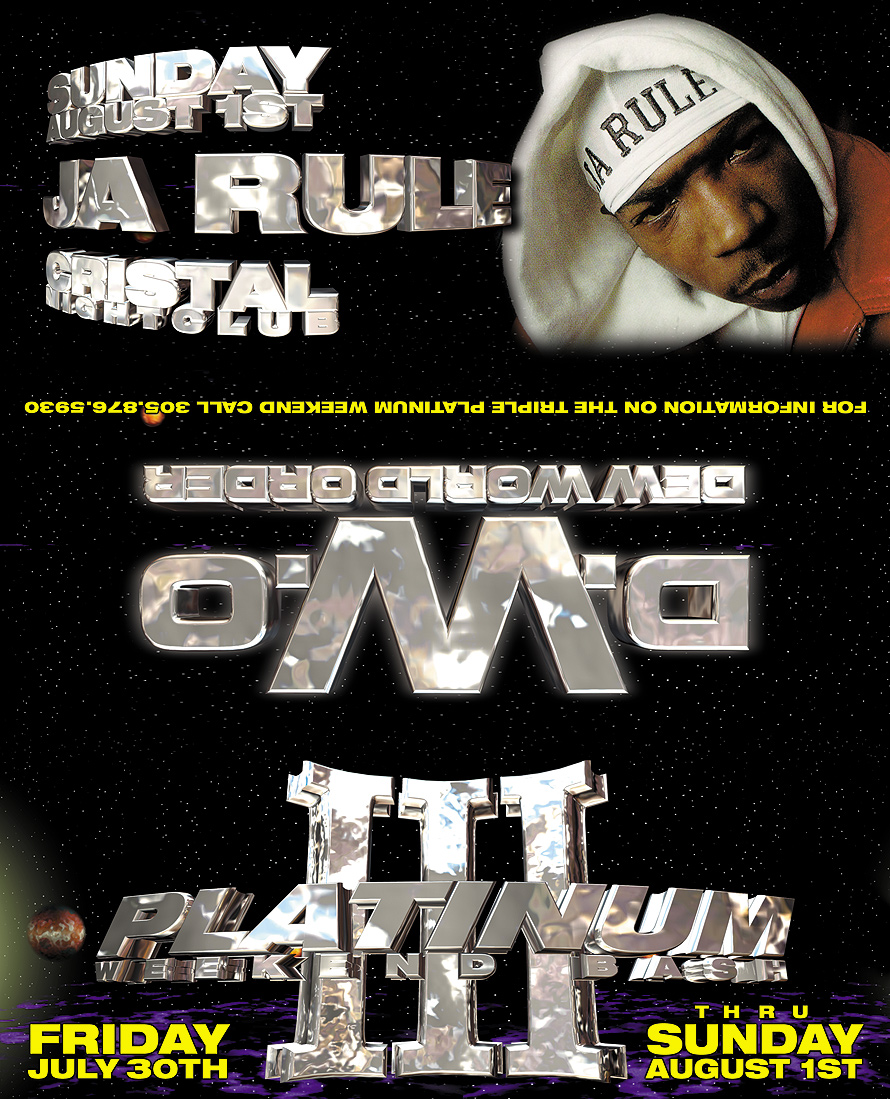 Def Jams Ja Rule Double Platinum Party at Club Cristal
