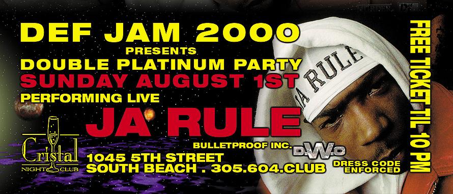 Ja Rule Performing Live at Cristal Night Club
