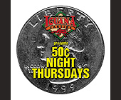 50 Cent Night Thursdays at Cafe Iguana - tagged with coins