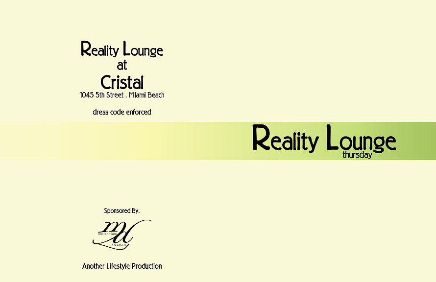 Reality Lounge Thursday at Cristal