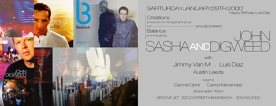Sasha and John Digweed United at Groove Jet
