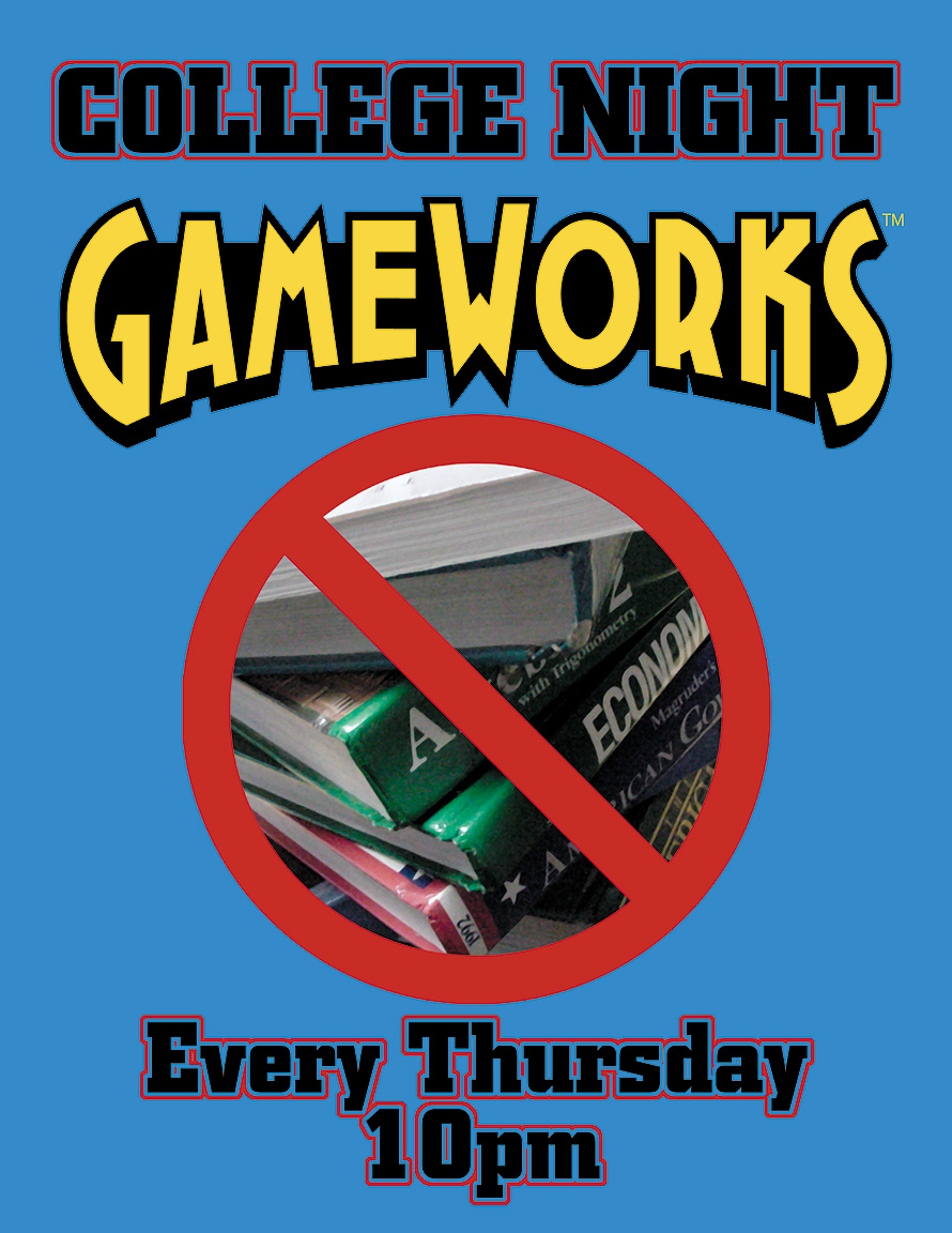 College Night Every Thursday at Gameworks