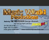Music World Productions - tagged with turntable