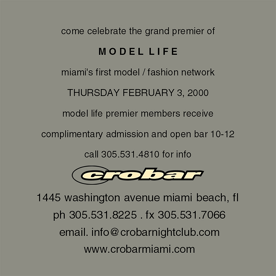 Model Life Miami Model Network Kickoff