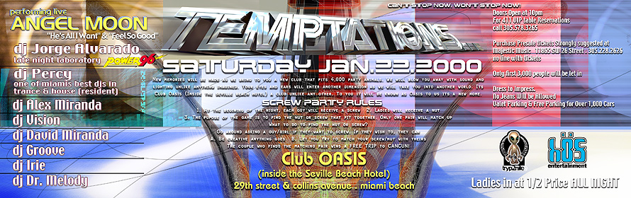 Temptations Event at Club Oasis