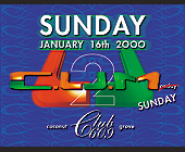 C.U.M Sunday at Club 609 in Coconut Grove - tagged with blue
