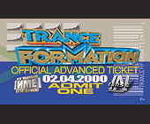 Trance Formation Advanced Ticket - tagged with admit