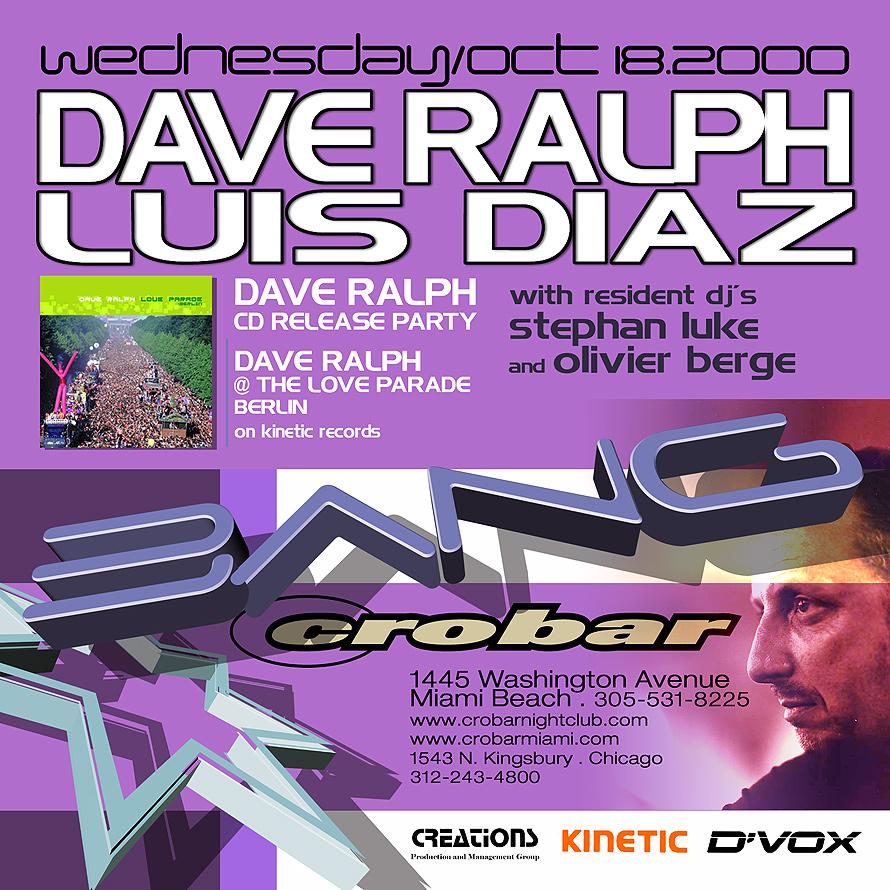 Bang at Crobar with Dave Ralph & Luis Diaz