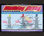 Thunderwheels Birthday Party Packages - Skating Graphic Designs