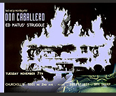 Don Caballero at Churchill's - Rock Graphic Designs