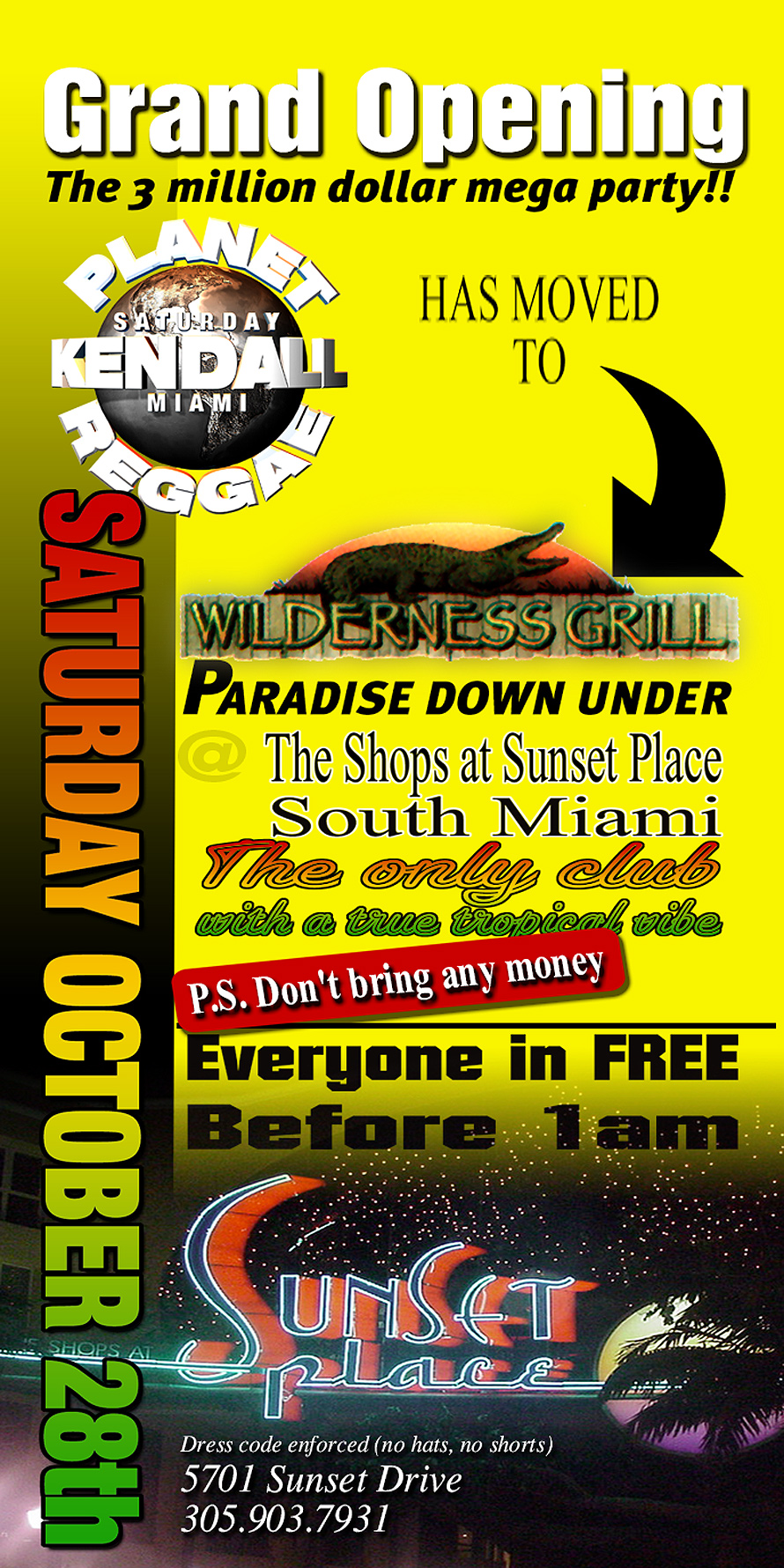 Planet Reggae at Wilderness Grill