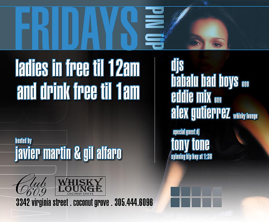 Pin Up Fridays at Club 609