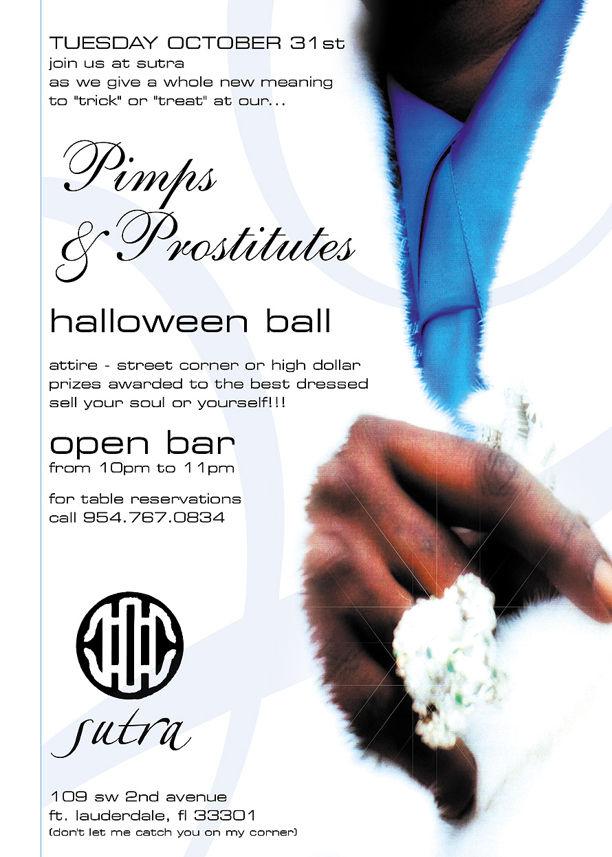 Pimps and Prostitutes Halloween Ball at Sutra