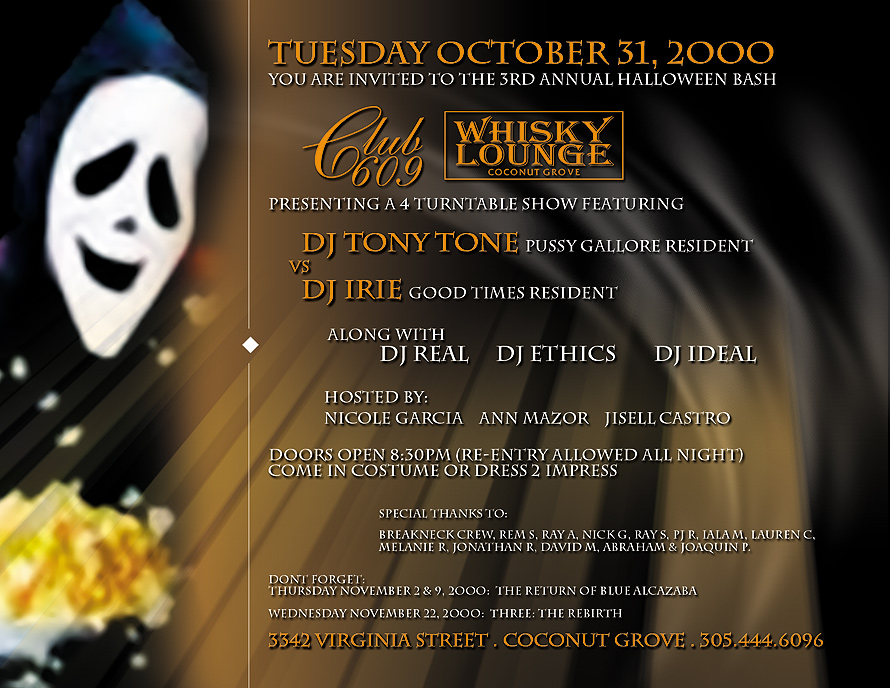 Fright Night at Club 609 and Whisky Lounge