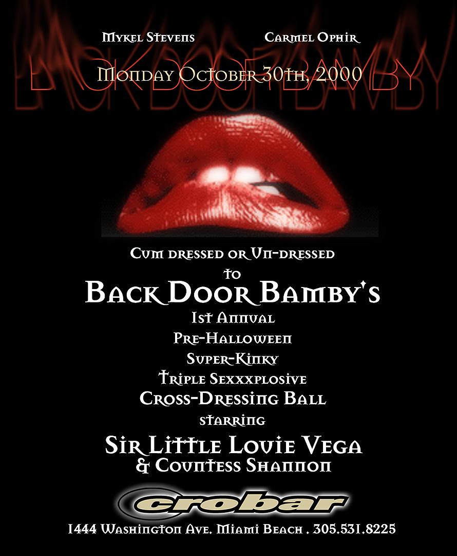 Back Door Bamby at Crobar