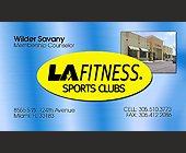 La Fitness Sports Clubs Counselor Business Card - Sports and Fitness
