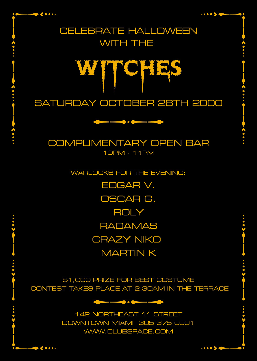 Witches Halloween at Club Space