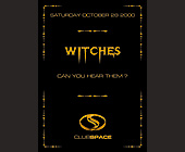 Witches Halloween at Club Space - Miami Flyers Graphic Designs