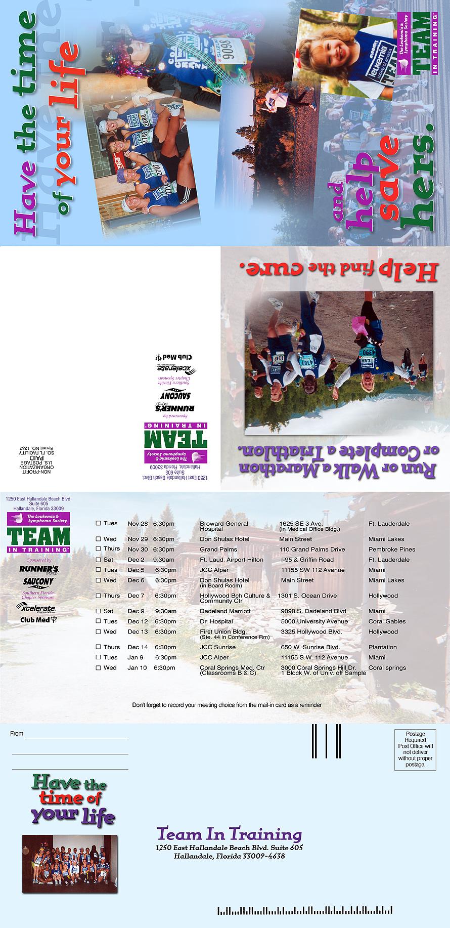 Team In Training Mailer