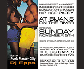 Hip Hop Party at Bijans on the River - tagged with opening