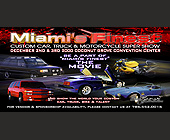 Miami's Finest Custom Car Truck Motorcycle Super Show - 825x1650 graphic design